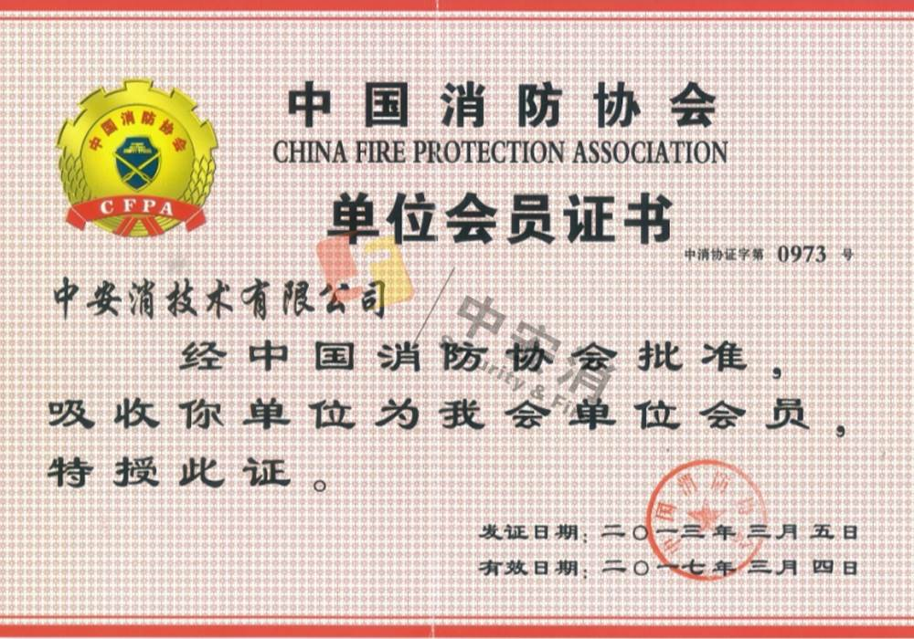 Member of China Fire Protection Association
